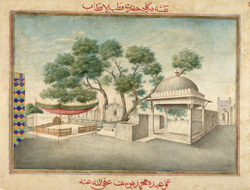 A view of the dargah or shrine of Qutb-Sahib at Mehrauli